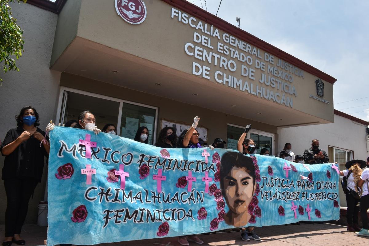 Movilización en Chimalhuacán a tres años de impunidad: aniversario luctuoso de Diana VelázquezFlorencio