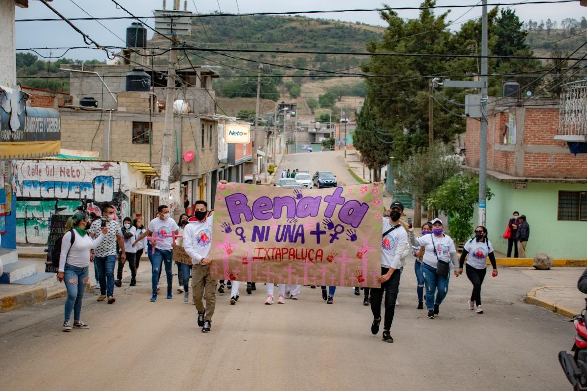 """""""Mientras tú pides tu voto, yo pido justicia"""": Marchan en Ixtapaluca porfeminicidios"""